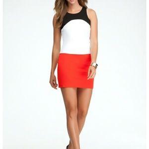 bebe | NWT Colorblock Zipper Back Mini Dress